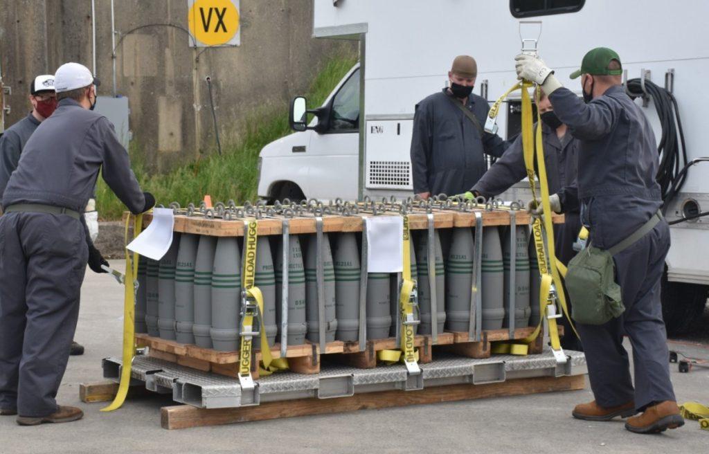 Securing VX Projectiles for Destruction